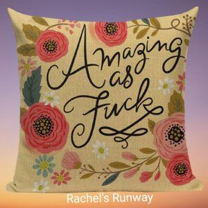 🆕2/$40 Funny Swear Word Decorative Cushion Cover
